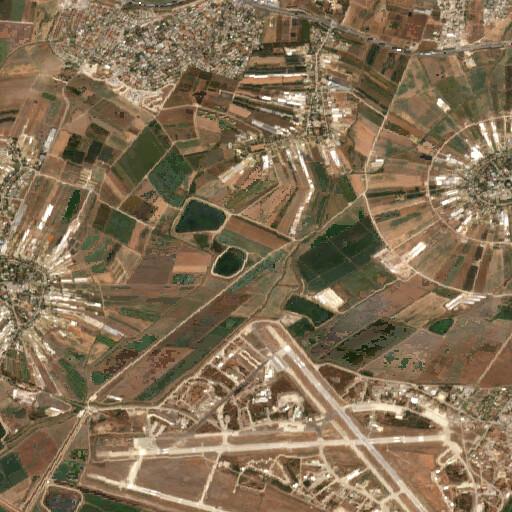satellite view of the region around Tell el Ghaltah
