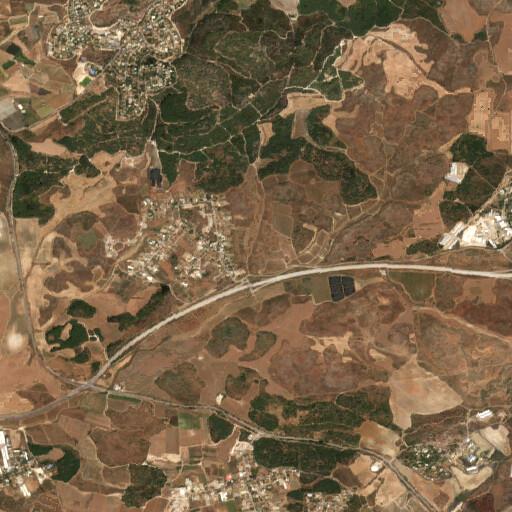 satellite view of the region around Deir Muheisin