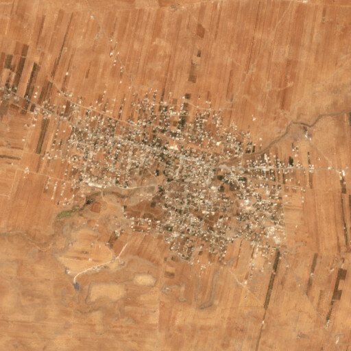 satellite view of the region around Et Tayibeh