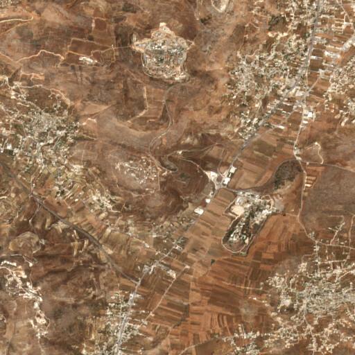 satellite view of the region around Khirbet en Nabi