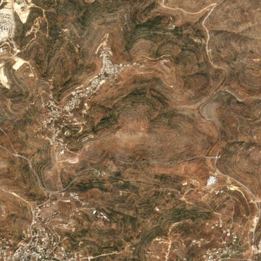 satellite view of the region around Khirbet Tarafayn