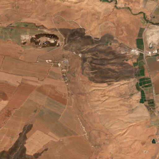 satellite view of the region around En haYadid