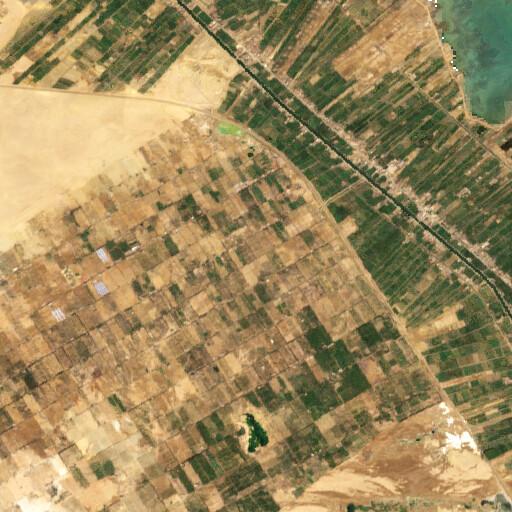 satellite view of the region around Jebel Abu Hasa