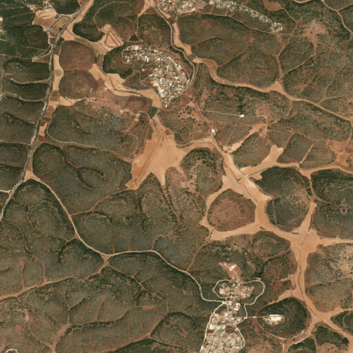 satellite view of the region around Khirbet Huran