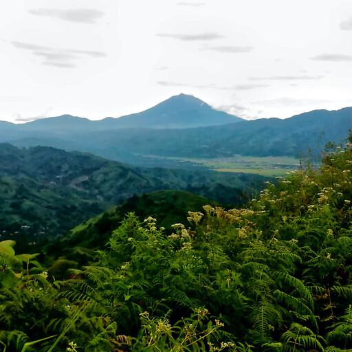 panorama of a mountain in Sumatra