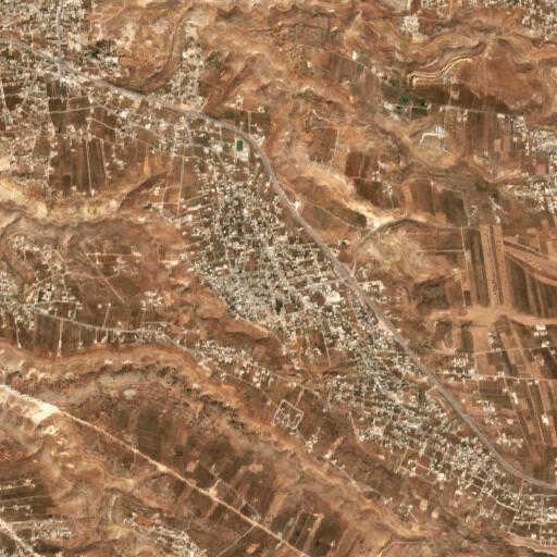 satellite view of the region around Qumeim