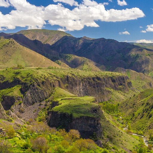 panorama of a valley in Armenia