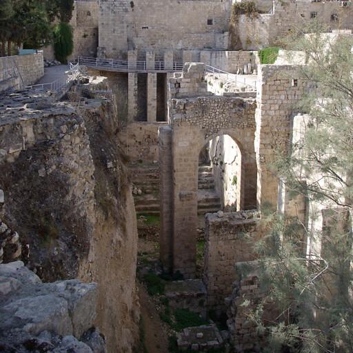 ruins at the Pool of Bethesda