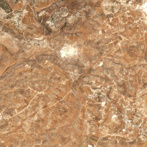 satellite view of the region around Khirbet al Simia