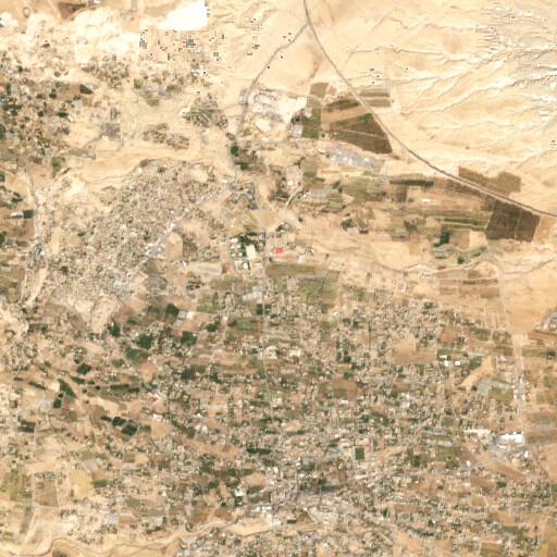 satellite view of the region around Tell el Jurn