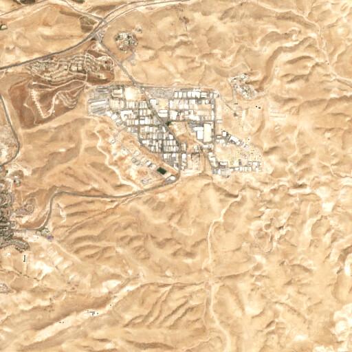 satellite view of the region around Wadi el Kaziz