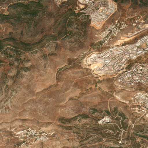 satellite view of the region around Khirbet el 'Id
