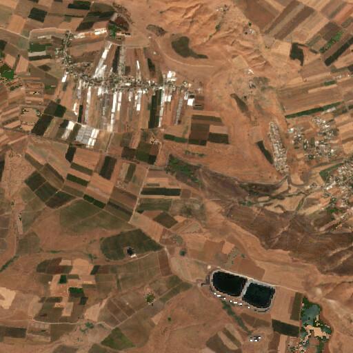 satellite view of the region around Khirbet Sarona