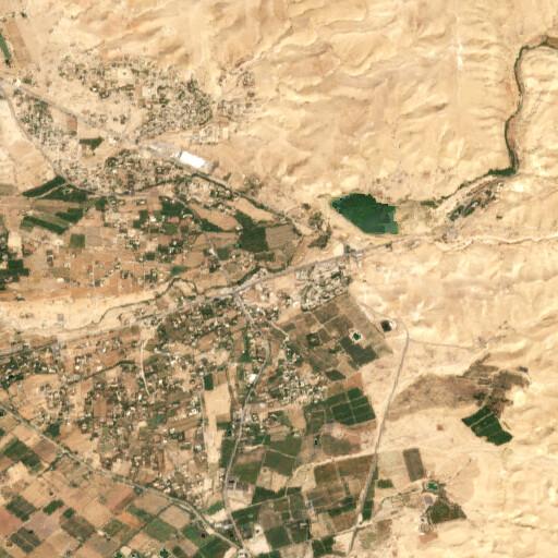 satellite view of the region around Tall Nimrin