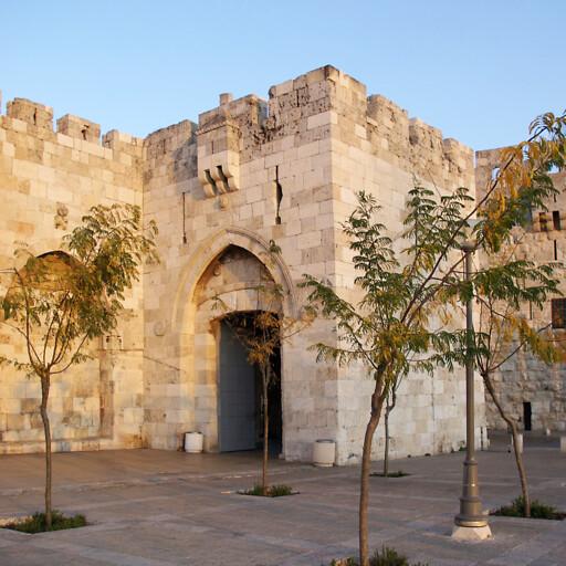 panorama of Jaffa Gate