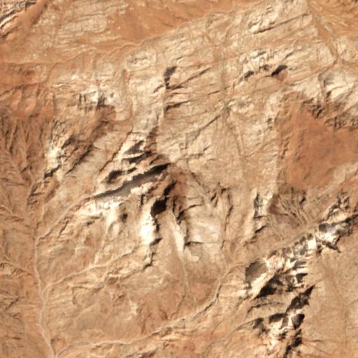 satellite view of the region around Jabal al Lawz