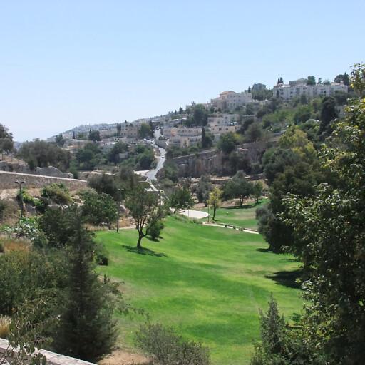 panorama of the Hinnom Valley