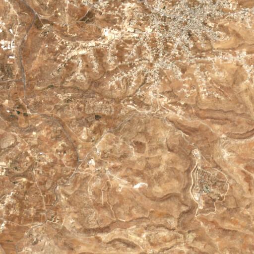 satellite view of the region around Khirbet Bani Dar
