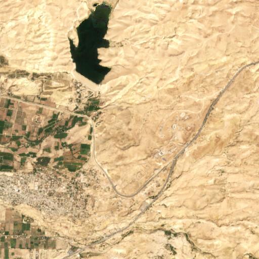 satellite view of the region around Tell Matabi