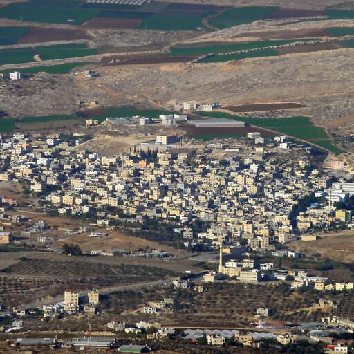 aerial cityscape of Tubas