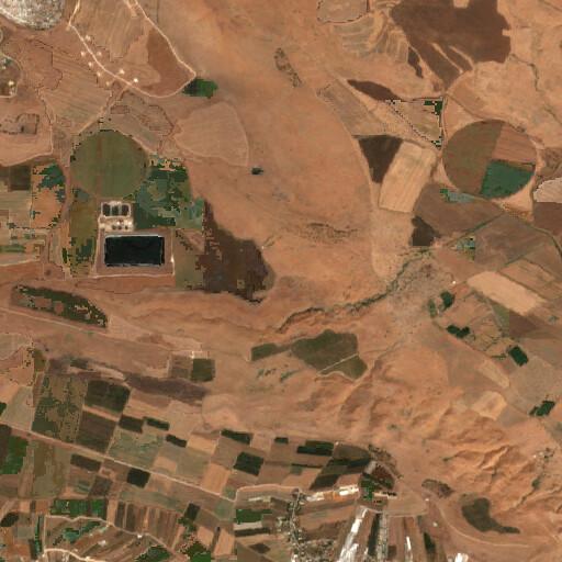 satellite view of the region around Tel Adami