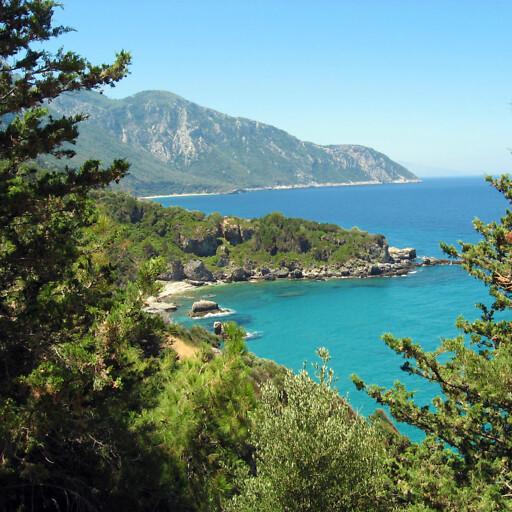 panorama of the coast of Samos