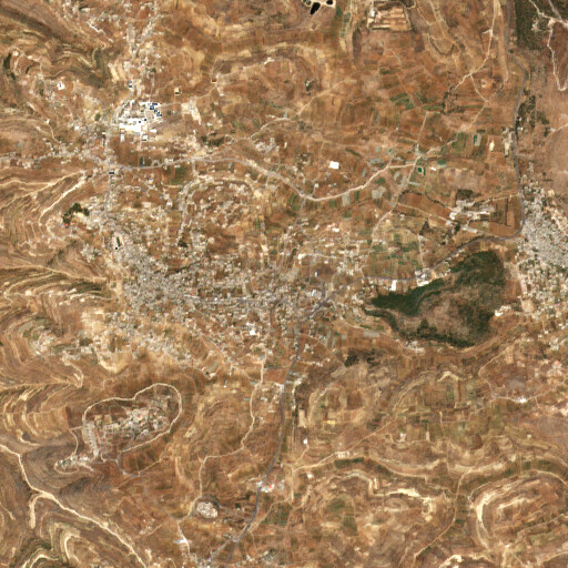 satellite view of the region around Khirbet Qufin