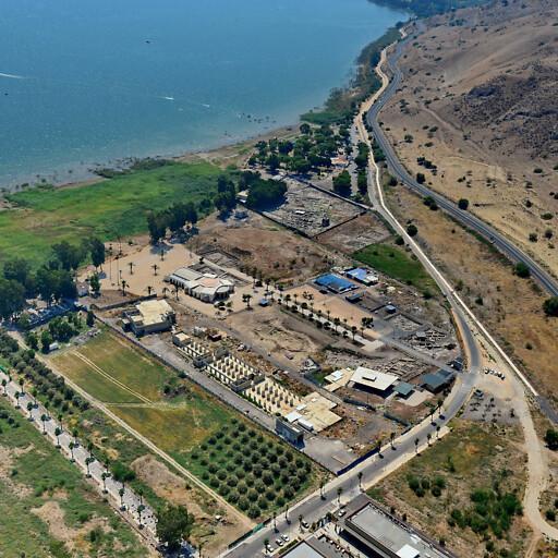 aerial panorama of ruins at Majdal