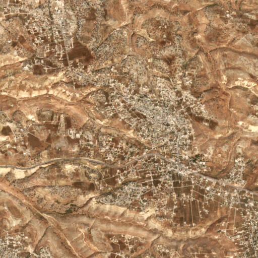 satellite view of the region around Umm el Ghozlan