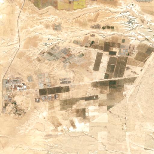 satellite view of the region around Khirbet es Samra