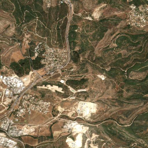satellite view of the region around Khirbet esh Sheikh Ibrahim