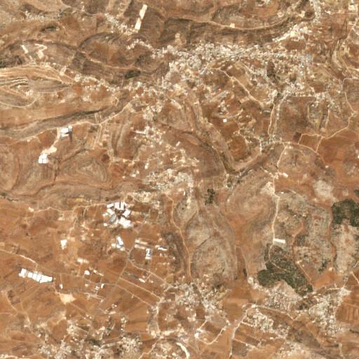satellite view of the region around Khirbet al Hadab