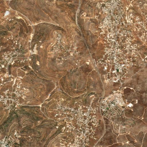 satellite view of the region around Khirbet Kafr Ana