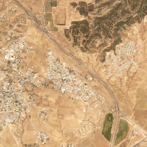 satellite view of the region around Khirbet ar Ras