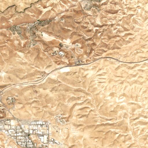 satellite view of the region around Thoghret ed Debr