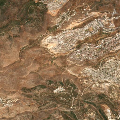 satellite view of the region around Khirbet ed Deir
