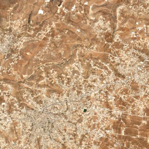 satellite view of the region around Khirbet el Kufeir