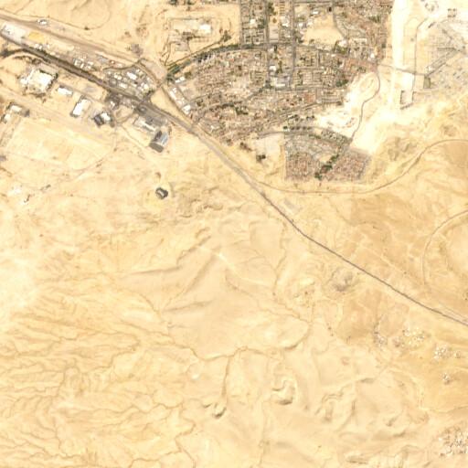 satellite view of the region around Horbat Rahba