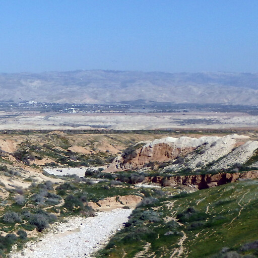 panorama of a region north of the Dead Sea