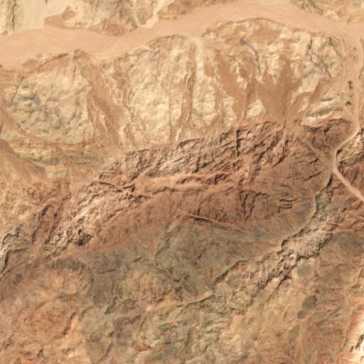 satellite view of the region around Jabal Huwayti