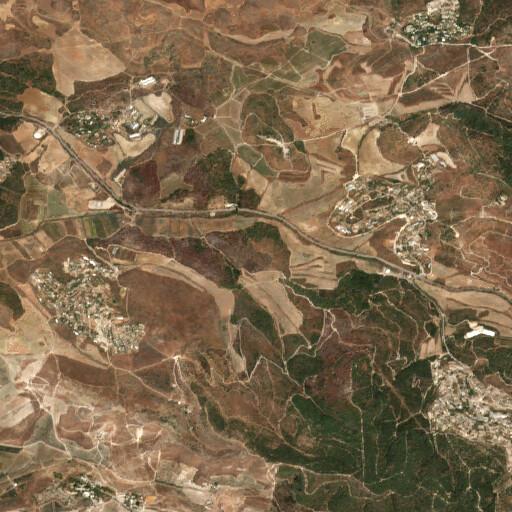 satellite view of the region around Khirbet Hasan