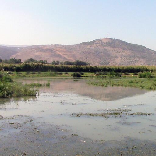panorama of Lake Huleh