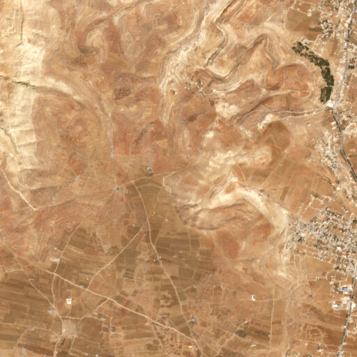 satellite view of the region around Khirbet Jaljul