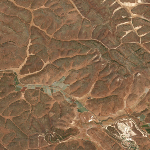 satellite view of the region around Khirbet Hebra