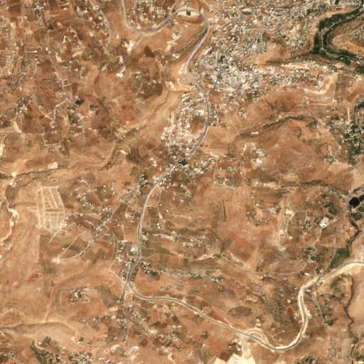 satellite view of the region around Khirbet Batneh