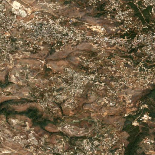 satellite view of the region around El Mghairiye
