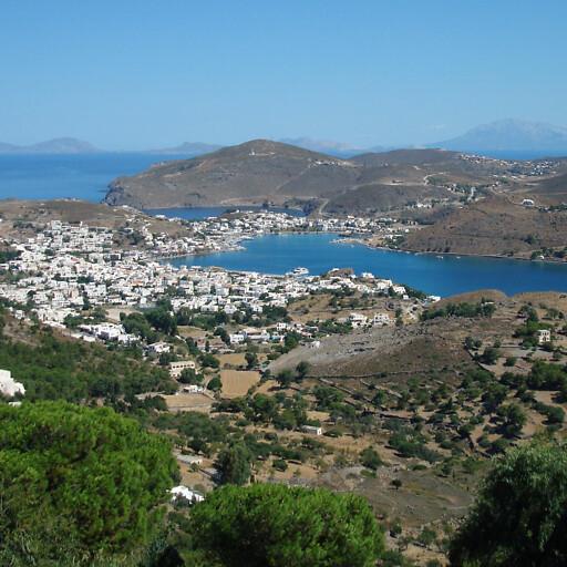 panorama of Skala on Patmos