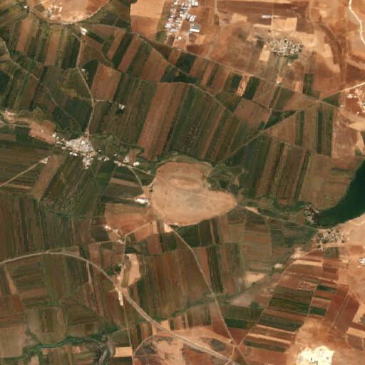 satellite view of the region around Tell Bashir