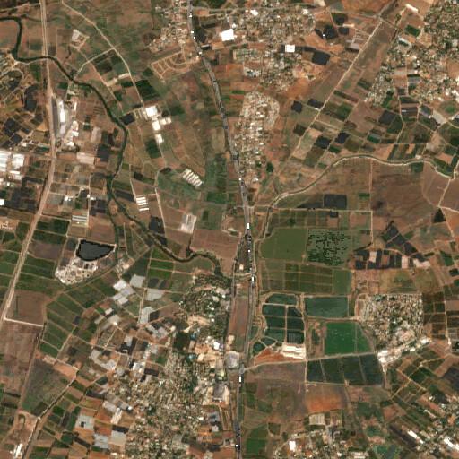 satellite view of the region around Tel Hefer