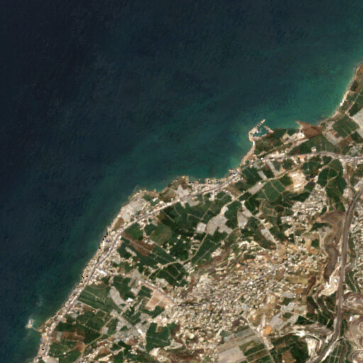 satellite view of the region around Sarepta